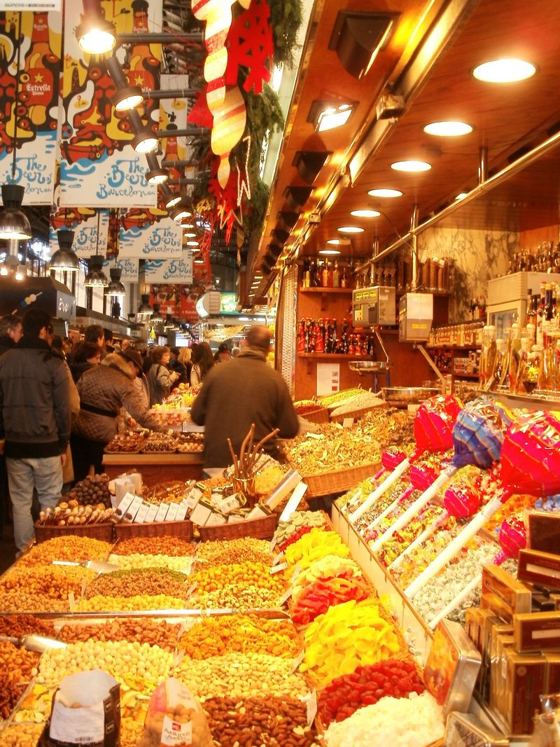 Mercat La Boqueria fruit and nuts