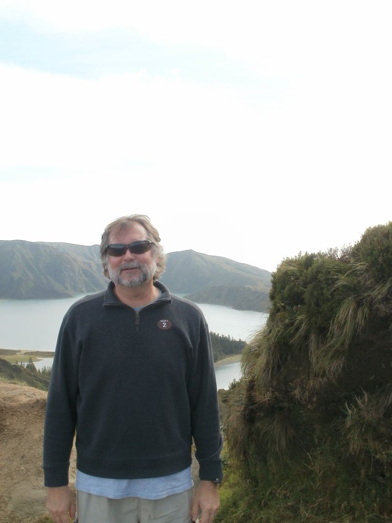 Dave at the volcano