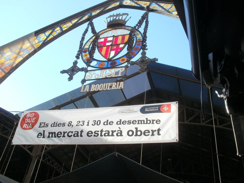 Mercat La Boqueria St Joseph entrance sign
