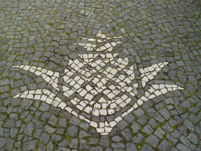 San Miguel pavement on Ponta del Garda in the Azores
